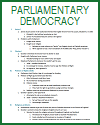 Growth of English Parliamentary Democracy Outline