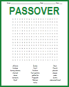 Passover Word Search Puzzle