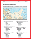 Russia Map Worksheet