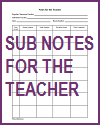Substitute Notes for the Teacher