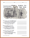 """Going to the Zoo"" Unscramble the Poem Worksheet"