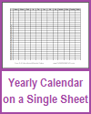 One-Year Calendar on One Sheet
