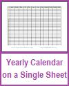 One-Year Calendar on One Sheet