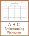ABC Brainstorming Worksheet