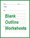 Free printable blank outline worksheets.