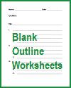 Free printable blank outline worksheets.