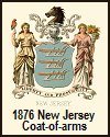1876 Illustrated Version of the New Jersey Coat-of-arms