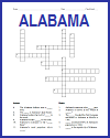 Alabama Crossword Puzzle