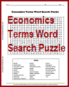 Economics Terms Word Search Puzzle