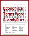 Economics Terms Word Search Puzzle