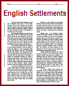 """Early English Settlements in North America"" Reading Worksheet with Questions"