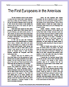 """""""The First Europeans in the Americas"""" Reading with Questions"""