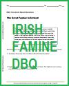 Great Famine in Ireland DBQ Worksheet