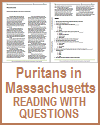 Puritans in Massachusetts Reading with Questions