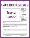 Meme True or False Analysis Worksheet
