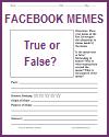 Meme True or False Analysis Worksheet