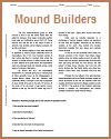 """""""Mound Builders and Pueblos"""" Reading Worksheet with Questions"""