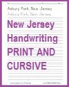 New Jersey Handwriting Practice Worksheets in Print Manuscript and Cursive Script