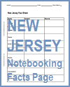 New Jersey Notebooking Facts Page