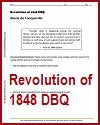 Revolution of 1848 by Alexis de Tocqueville DBQ Worksheet