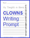 My Thoughts on Clowns Printable Writing Prompt for Lower Elementary