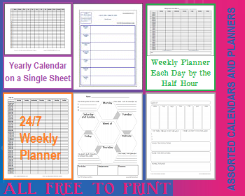 Free Printable School Calendars and Planners for Teachers, Students, and Parents