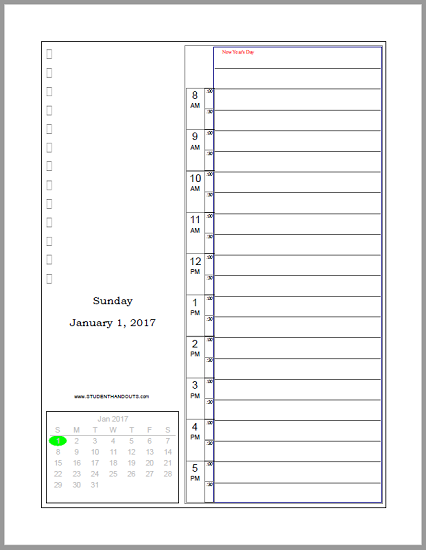Free Printable Bullet Journal Daily Planner - Scroll Down ...