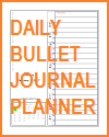 Free Printable Daily Bullet Journal Planner