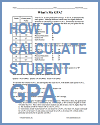Printable Instructions for Calculating Student GPA (Grade Point Average)