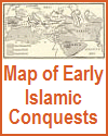 Map of Islamic Conquests, 632-750 C.E.