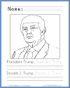 President Donald Trump Coloring Page
