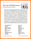 The Age of Enlightenment Word Search Puzzle