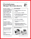 Christmas Head-scratchers Worksheet for Kids