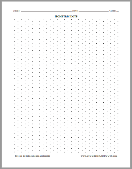 Isometric Dots Graph Paper - Free to Print