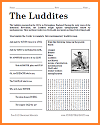The Luddites Bellwork Handout