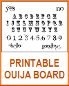 Free Printable Ouija Board for Your Halloween Party Seance