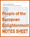 Note-taking Worksheet on People of the Enlightenment