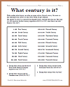 What century is it? Worksheet
