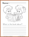 What is this book about? Primary Writing Prompt