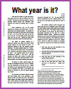 What year is it? Worksheet for High School History Students