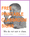 Printable Classroom Rules Signs for Assorted Grade Levels