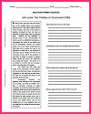 DBQ Worksheet on John Locke's Two Treatises on Government