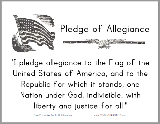 graphic regarding Pledge of Allegiance Words Printable identify Pledge of Allegiance Printable Indicator for Clrooms University student