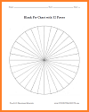 Blank Pie Chart with 32 Pieces