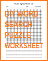 DIY Blank Word Search Puzzle Worksheet