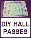 DIY Classroom Hall Passes