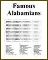 Famous Alabamians Word Search Puzzle
