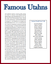 Famous Utahns Word Search Puzzle