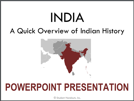 History of India PowerPoint - PPT/PPTX/PDF free to print or download.