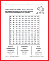 International Workers' Day Word Search Puzzle